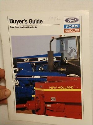 Original 1992 Ford Tractors and New Holland 35 page Buyer's Guide