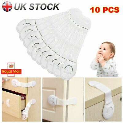 10x Kids Child Baby Safety Lock Door Stopper Fridge Cupboard Cabinet Drawer Pet