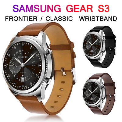 Leather Watch Band Strap Wrist Bracelet For Samsung Gear S3 Frontier/ Classic
