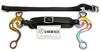 Amidale Rainbow Hackamore Bitless Horse Bit Padded Leather Bnwt