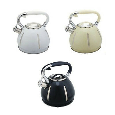 STEEL WHISTLING Kettle 2.7L Magic Colour Change Induction GB ...