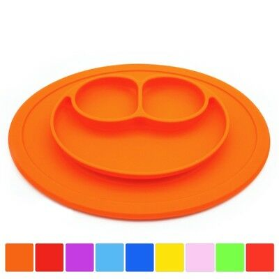 Kids Silicone Placemat Plate Dish Food Tray Table Mat Baby Toddler Suction