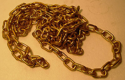 4 feet Marine SOLID BRASS CHAIN - 2 GAGE - Heavy Duty