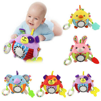 1pcs/Lot Baby Rattles Baby Teether Cartoon Rattles Teethers Baby Toys hand bell