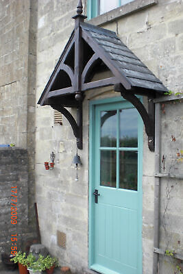 ASHCOMBE - Timber Door Canopies- Wooden front door porch canopy gallows bracket