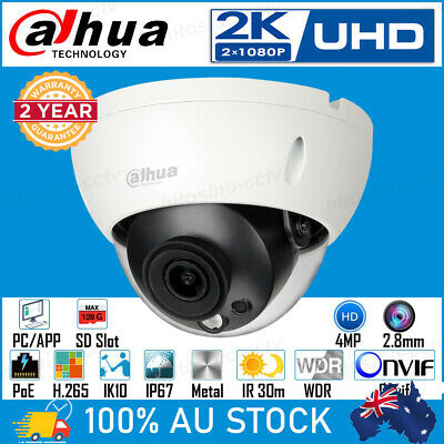 Dahua HD 4Mp PoE Mini Dome Vandalproof Home Business In/outdoor Security Camera