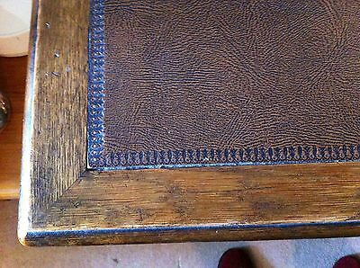 leather top writing desk