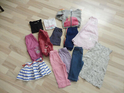 LOT VETEMENTS FILLE 18/24 mois : robe, jogging, haut, leggins, etc..