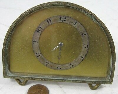 Antique 1890's-00's Metal Dore Fab Suisse Swiss Brass Clock