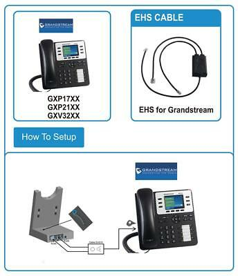 GRANDSTREAM EHS HEADSET Adapter for Jabra (Engage 75, Engage 65) Dect  Headset