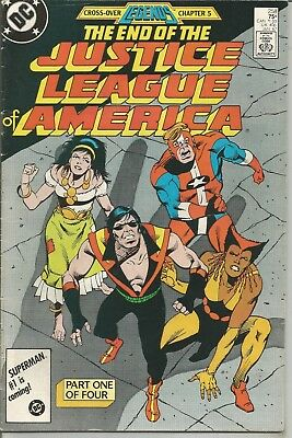 """Justice League of America - No. 258 (January 1987) ~ """"LEGENDS"""" Cross-Over Issue"""