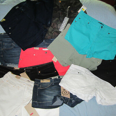 SUMMER WEAR!!   (10) Pairs of Junior SHORT-SHORTS…Sizes 3 – 15…NEW...w/Tags