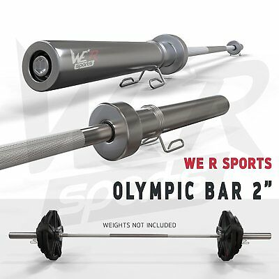 We R Sports 7FT Olympic Barbell Bar Gym Weight Lifting & Spring Collar Gym Squat