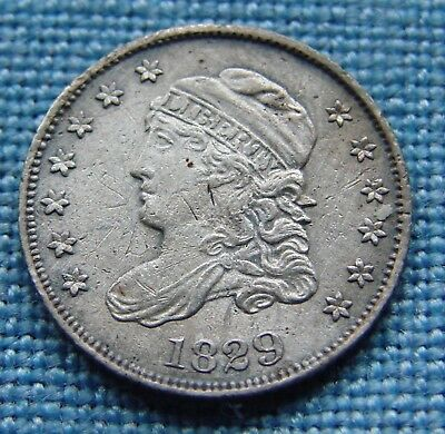 *very Scarce 1829 Capped Bust Half Dime - Estate Fresh*