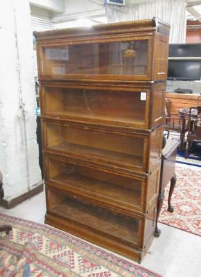 STACKING OAK BOOKCASE, American, c. 1900, having f Lot 48