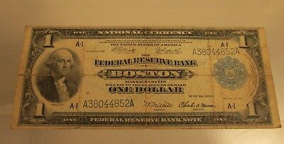 Federal Reserve Boston 1914 Large Note    @ A Village Coin Bullion  Auction