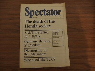 Spectator Magazine, 1979, 23rd June. Very good condition.
