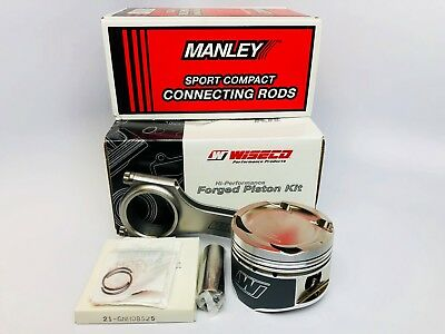 WISECO HD PISTONS Manley Rods for 4G64 w/ 4G63 Head 7-Bolt