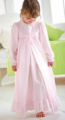 Pink Peignoir Set Toddler Nightgown Robe Girls Long Sleeve Nylon NWT Laura Dare