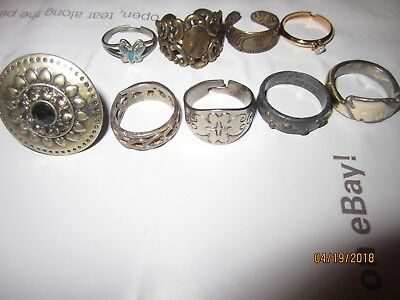 """Estate Antique Vintage to Now Lot of Jewelry  Junk drawer. """" All Rings"""""""