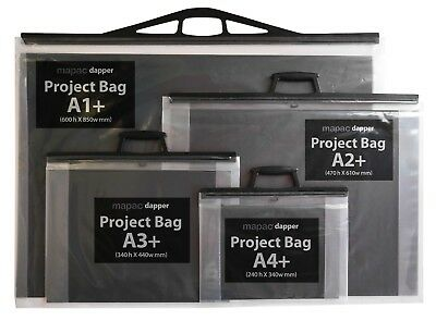 MAPAC - dapper  Project Bags with ACID-FREE Black inserts SOLD IN PACKS of 2