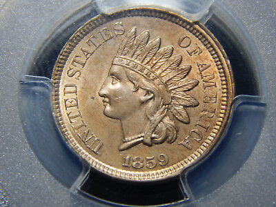 1859 1C Indian Head Cent MS-63 PCGS, Nice!