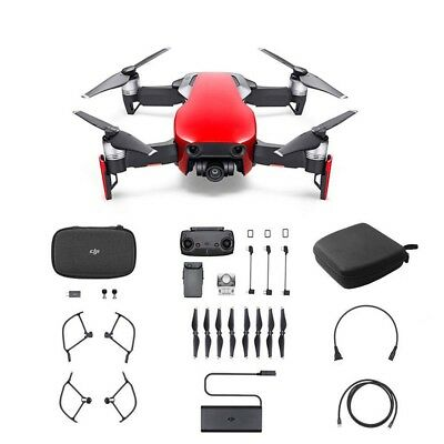 DJI Mavic Air Drone 3D 3-Axis with Controller Gimbal + Free Bag Black Red