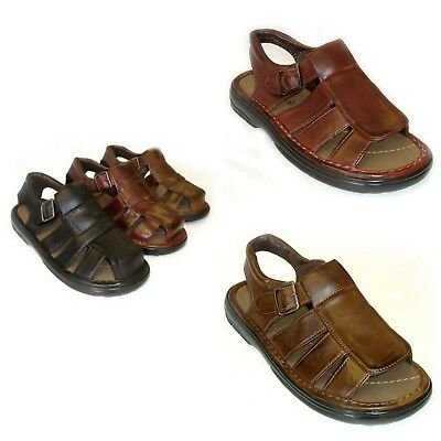 Men's New Leather Strap Comfortable Sandals Fisherman. Free Shipping