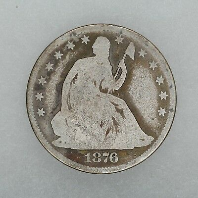 1876 Cc Seated Liberty Half Dollar 50C G Good (4465)