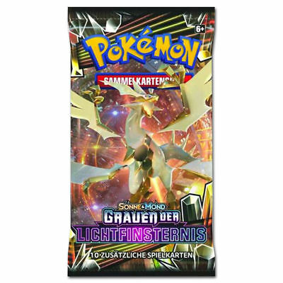 1 Pokemon Booster Pack *S&M 6 Grauen der Lichtfinsternis* in deutsch  NEU & OVP