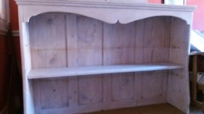 Old Lime Waxed Pine Dresser top/ Panelled Back