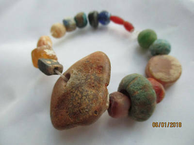 Beautiful Ancient Roman 17 Beads Authentic