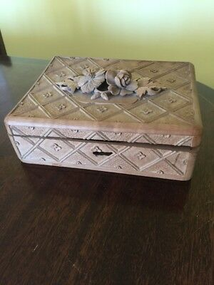 hand carved antique Black Forest Box