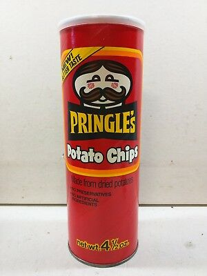 2 Original Vintage PRINGLES Potato Chips Container Procter & Gamble Sleeve Can