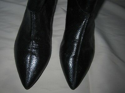 Lulu Guinness Metallic Leather  Ankle Boots 37.5/4.5