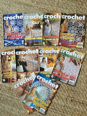 Crochet Monthly Issues 251 To 260  Excellent Condition
