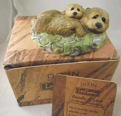Dakin Artist Lou Rankin BUNDLE OF LOVE 2 Sea Otters Sleeping Together-Mom & Cub
