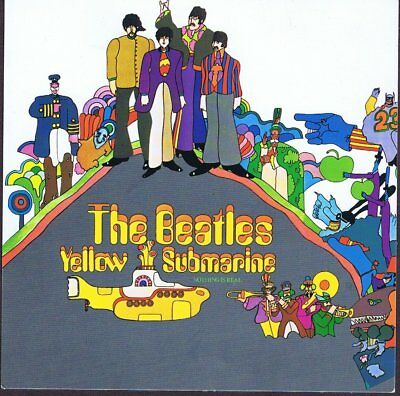 The Beatles Yellow Submarine Colour Postcard Unused
