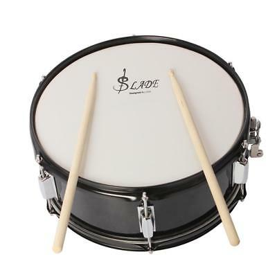 Stainless Steel 14inch Snare Drum with Drum Sticks Strap