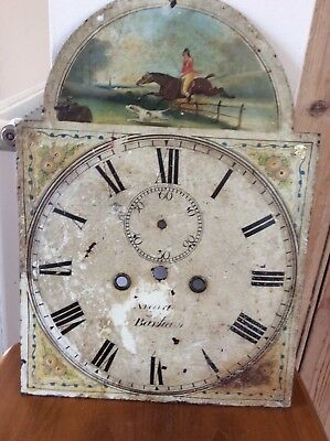 8 Day Longcase Clock Dial, Raised Dial.