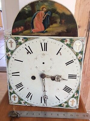 8 Day Longcase Movement, Complete, Religious Scene to Dial