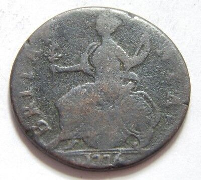 1776 UK  England Copper Evasion Half Penny Coin