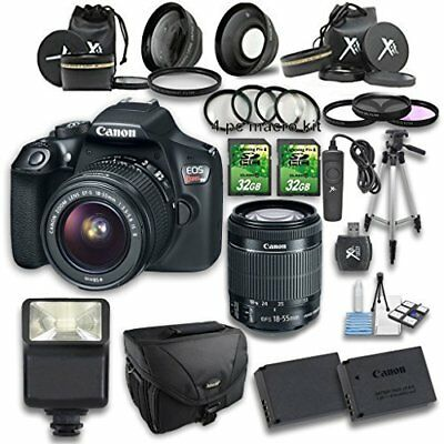 Canon EOS Rebel T6 DSLR Camera with 18-55mm IS II Lens and Accessory Bundle