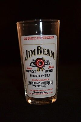 Rare, Jim Beam Bourbon Whiskey Collins Glass, Made in France