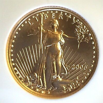 "2006-W 1/10 oz $5 American Gold Eagle NGC MS 70 ""Burnished Gold Eagle"" @@Photo's"