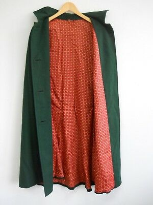 Vintage Wool Austrian Cape Loden Sound Of Music Oktoberfest Trachten Womens L