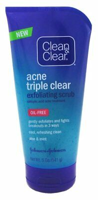 Clean - Clear Acne Triple Clear Exfoliating Scrub, Oil Free 5 oz