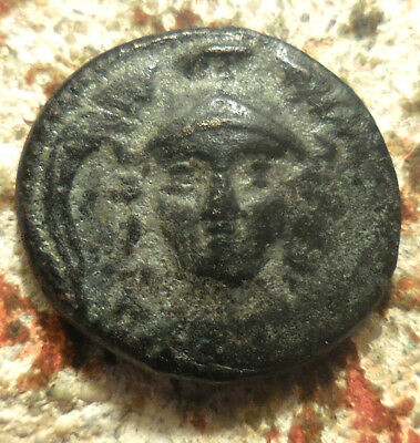 Antiochos I Soter. 281-261 BC. Helmeted, facing Athena / Nike advancing left;