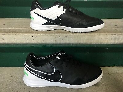 06e27516ab4 NIKE TIEMPOX PROXIMO IC INDOOR SOCCER SHOES BLK WHT GRN  843961-003 ...