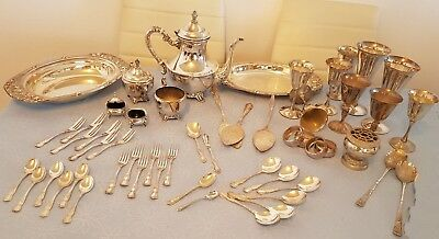 Collection of Silver Plate Items: RODD, Camille, Valero, Kingsway, Sherwood